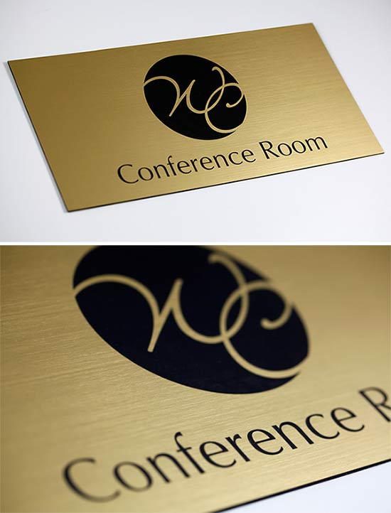 interior office door signs wall plaques curved signs