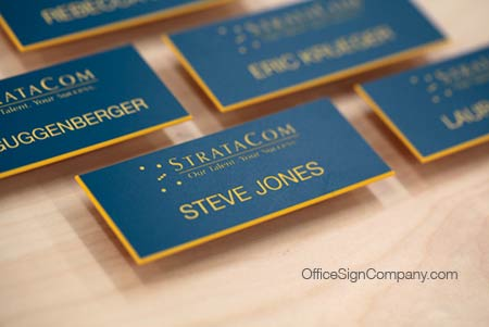 premium engraved name tags office signs