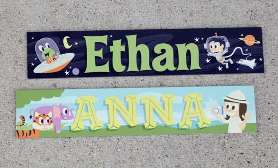 Kids Room Signs | Girls, Boys Door Name Plates | Child's ...