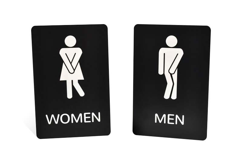 Funny Restrooms Signs with Engraved Text   Graphics. Restroom Signs   ADA Bathroom Signs   Mens Bathroom Signs