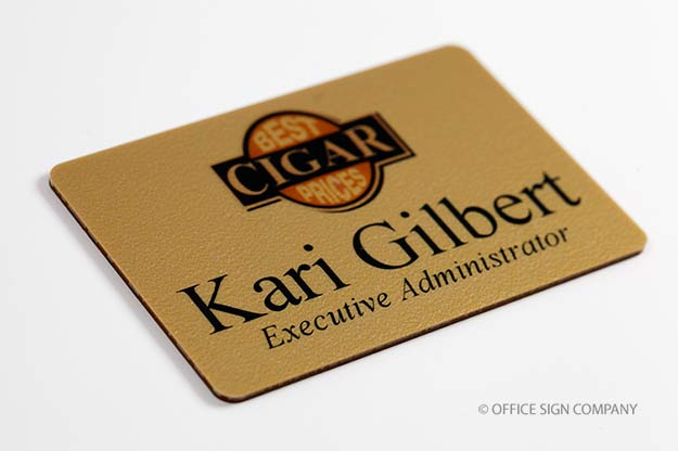 Logo Name Tags | Full Color Name Badges