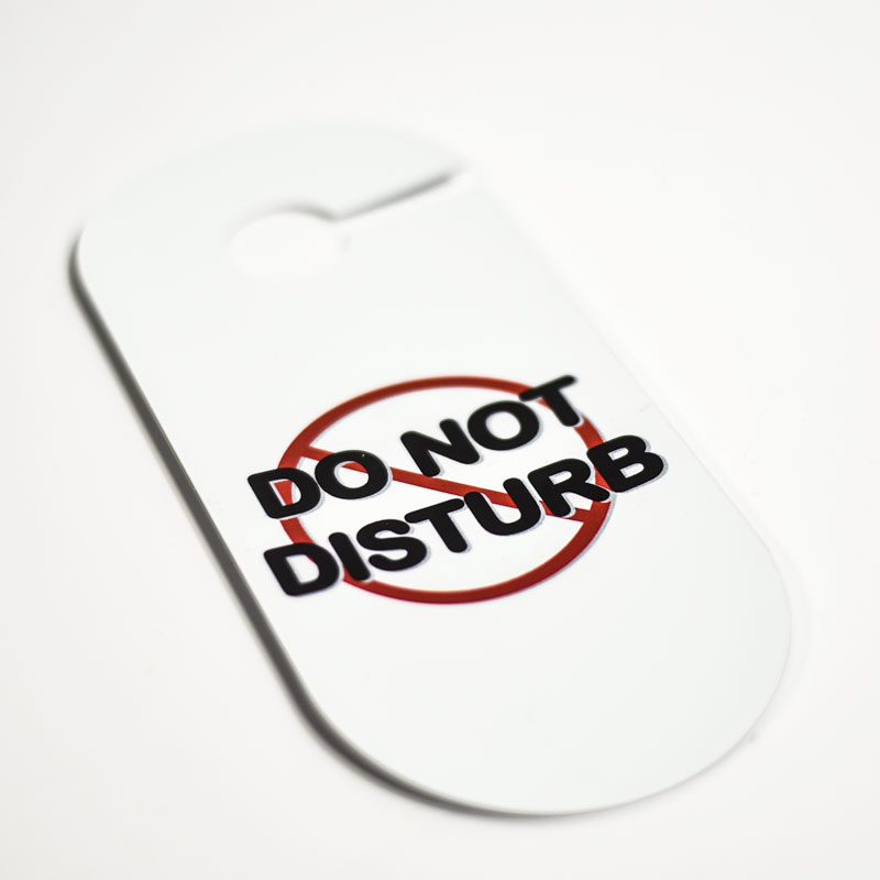 Custom Door Hanger Do Not Disturb Signs
