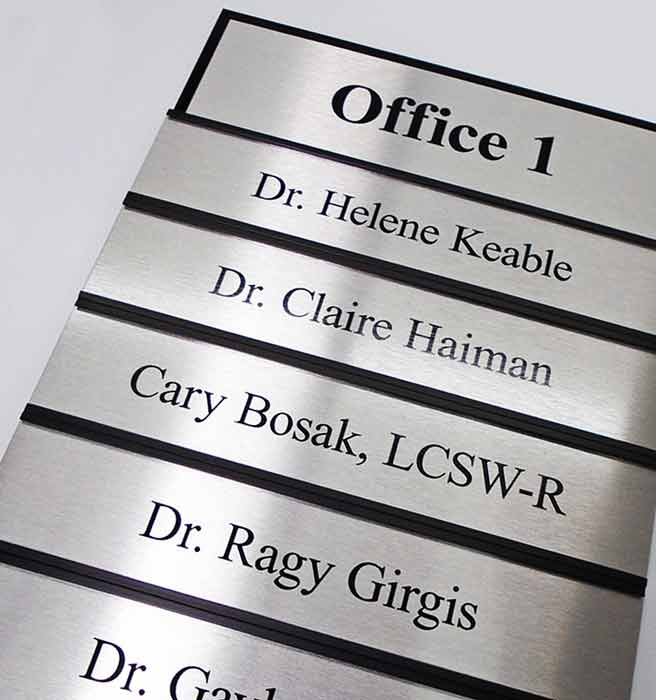 Interchangeable Name Plate Signs Changeable Office Signage