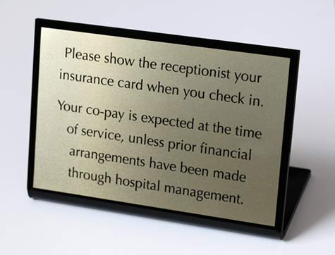 Interior Office Desk Signs With Custom Message