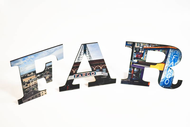 Large Letters With Full Color Print Custom Letters