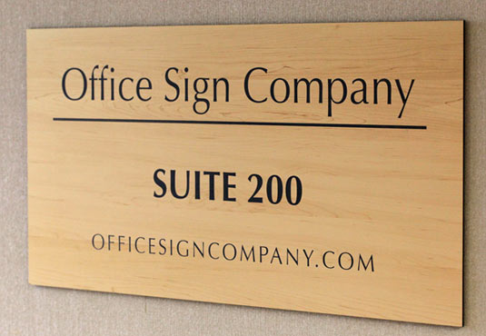 Suite Room Signs | Wood Tone Room Signs | Office Suite and Door Signs