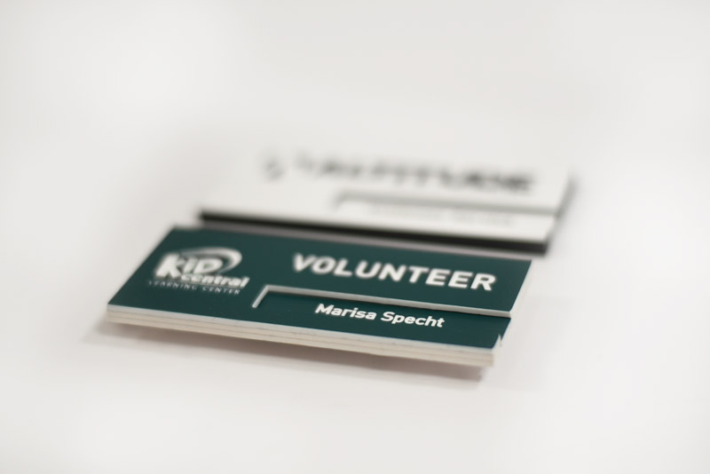 Engraved Name Tag With Removable Insert Interchangeable
