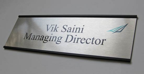Office sign name plates metal office signs cool for Door name signs