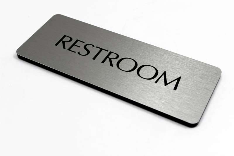 Modern Restroom Signs - Simple Bathroom Sign