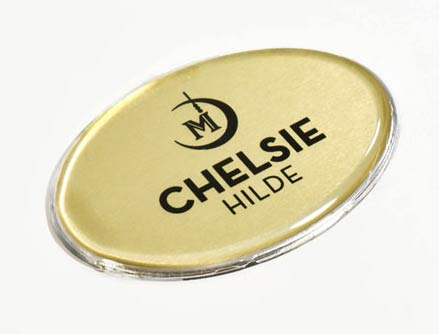 Hotel Name Badge & Tags with Protective Lens