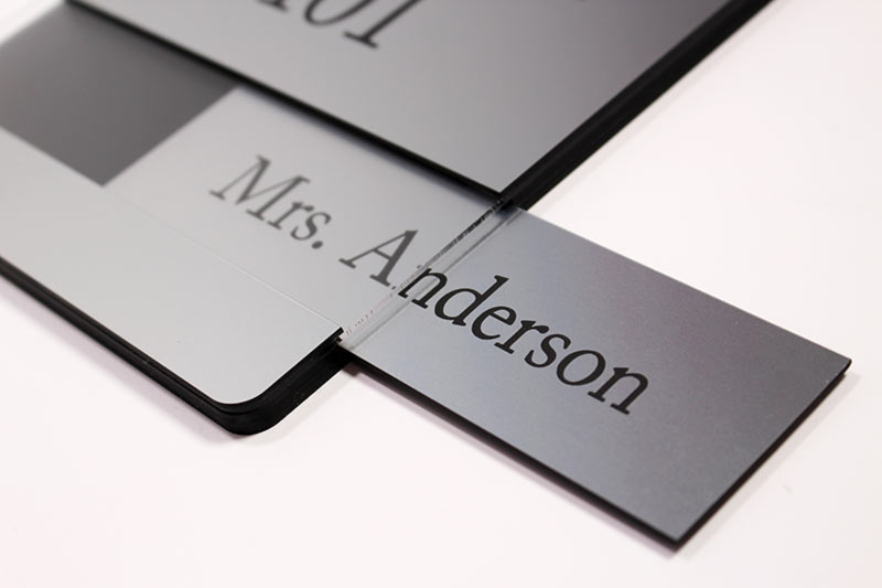 Engraved Insert Signs Changeable Insert Window Signs For
