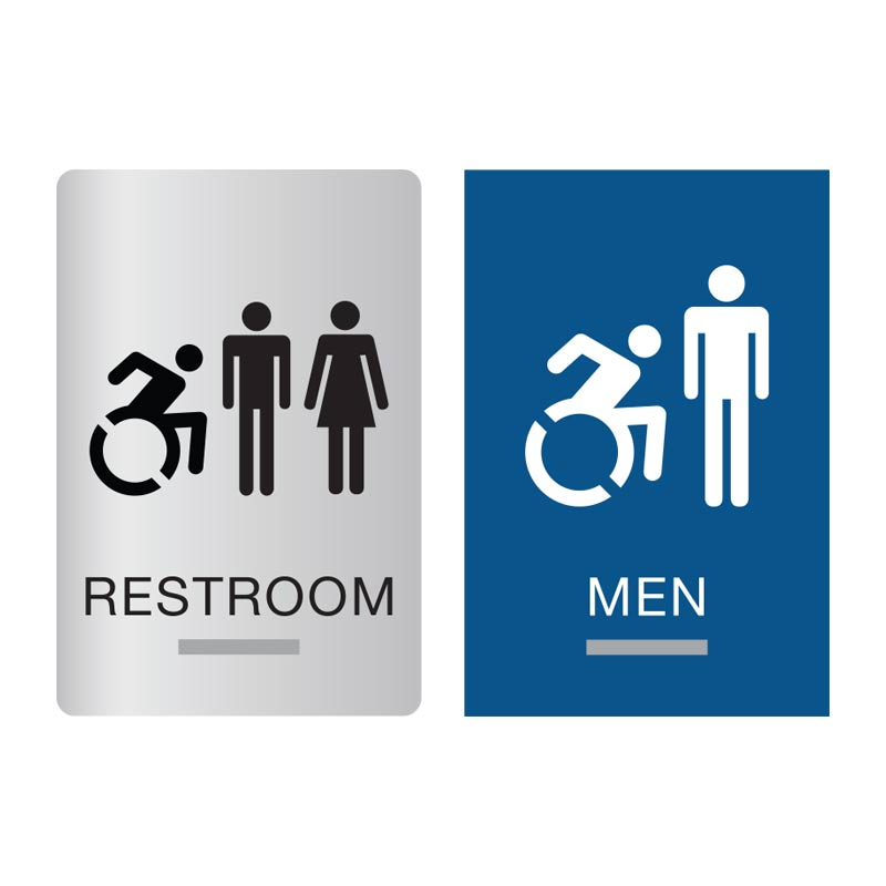 New York ADA Restroom Signs New York Braille Bathroom Signs - Gender neutral bathroom signs
