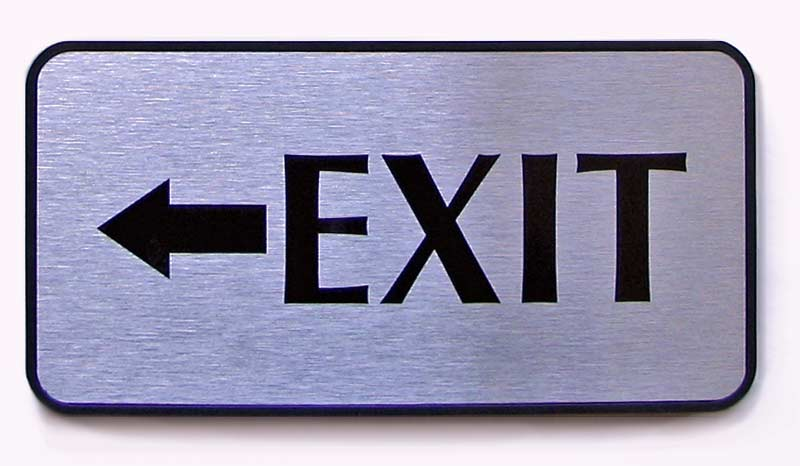 exit sign architectural office door name plates