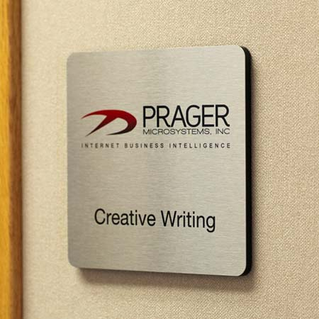 Premium Office Signs Brushed Metal Door Signs