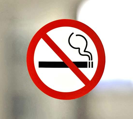 No Smoking Symbol Sticker Window Decals Office Sign