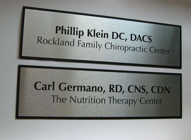 Professional Brushed Metal Office Interior Signs : doctor door - pezcame.com