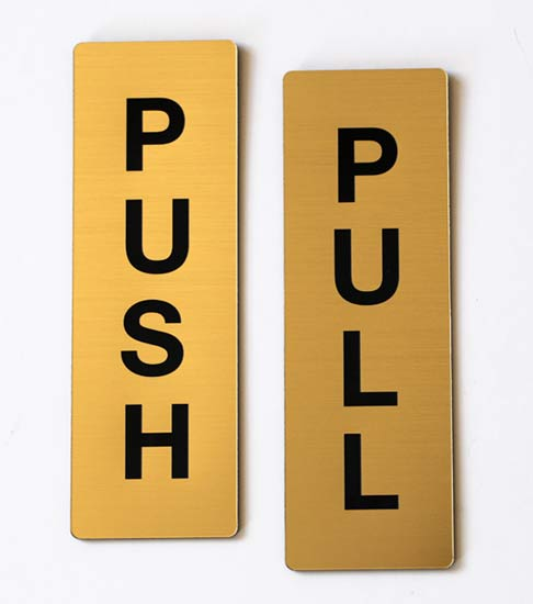 Push Pull Door Signs Set