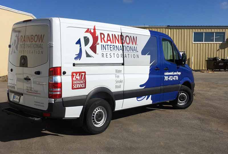 5c8f5a8937 Full Color Vinyl Vehicle Wrap Office Sign Company does Rainbow  International Vinyl Vehicle Wrap