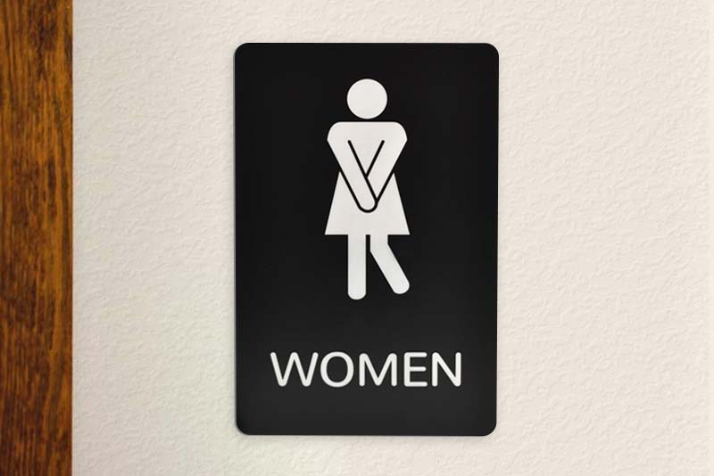 Comical Womens Restroom Signs