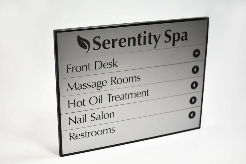 Interchangeable Office Directory Sign