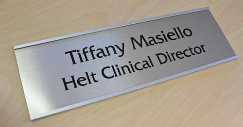 Personalized door name plates metal door signs signs for Door name signs