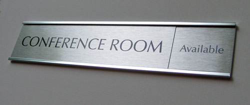 Silver Name Plates Silver Bankers Signs Custom Metal Office Signs - Conference room door signs for offices