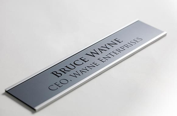 Engraved Office Signs with Frame | Laser Engraved Wall Signs