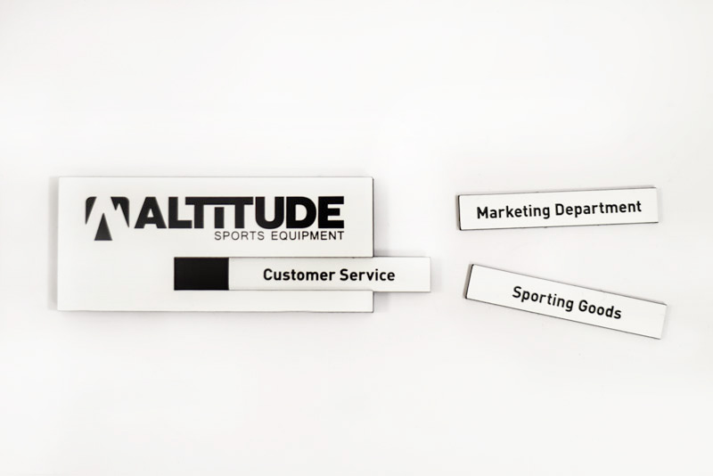 """Custom 3.5/"""" TEXT /& FONT Quality ENGRAVED Your Name Tag Patch BADGES door locker"""