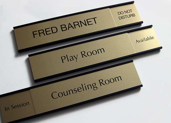 Sliding Door Placards & Health Care Sliding Availability Signs.