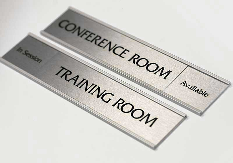 Office Name Plates: Corporate Sliding Door Signs