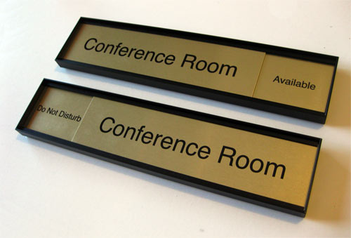 Sliding Office Door Signs In Session Availability