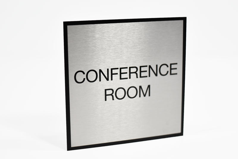 conference room signs in full color slim door signs in metal