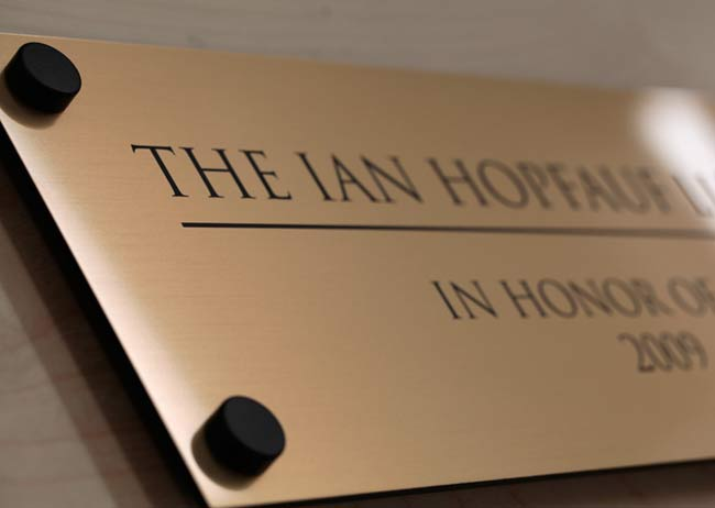 Custom engraved signs sign stand offs for Interior design signs