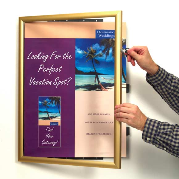 Wall Mount Document Displays Changeable Insert Office Signs