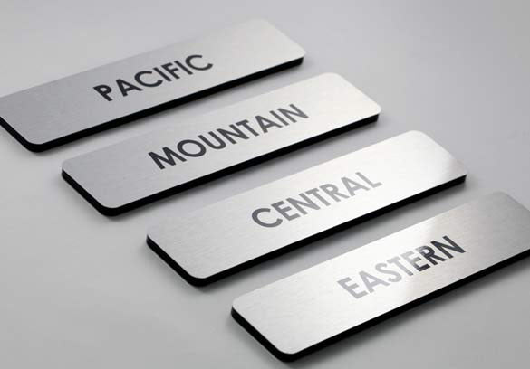 Interior Office Signs | Brushed Metal Door Signs & Metal Office Signs