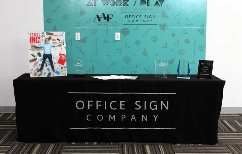 Trade Show Table Cover Dye Sublimated