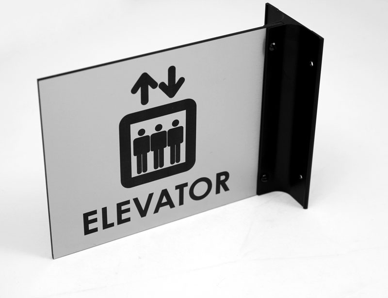 elevator wall sign room flags