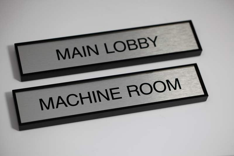 Rectangular Nameplate with Square Corners for Offices & Office Door Name Plates | Metal Office Signage
