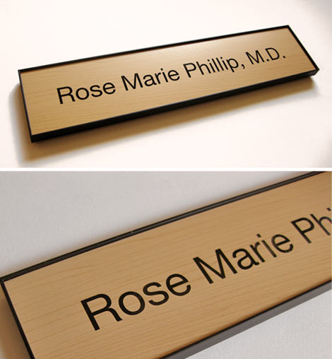 Wood Office Signs | Wooden Nameplates