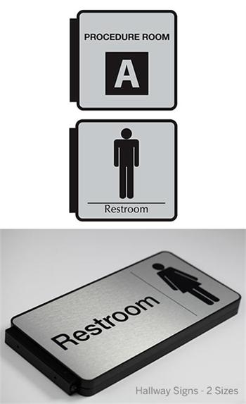 wayfinding hallway directional signs
