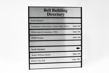 Custom Full Color Building Directory Sign with Metal Frame and Metal Plates