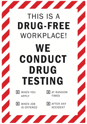 Drug Testing Drug Free Vinyl Decal for the Workplace