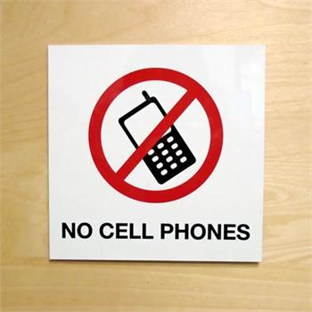 Metal No Cell Phone Sign