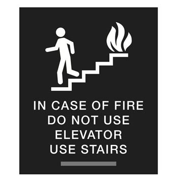 Ada Use Stairs Signs In Case Of Fire Signs Elevator Sign