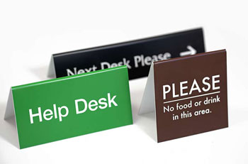 counter tent sign double sided table top counter signs