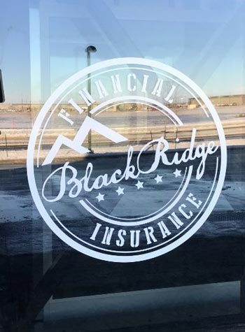 Window vinyl exterior black ridge bank