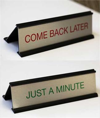 A-Frame Counter Signs | Dual Message Desk Signs
