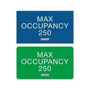 Americans with Disabilities Act (ADA) Braille Max Occupancy Signs