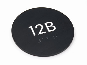 Round Room Number Sign