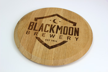 Black Moon Brewery Wooden Barrel Lid